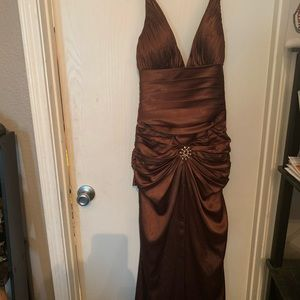 Brown prom dress